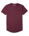 Henley Drop-Cut <!-- Size S --> Maroon