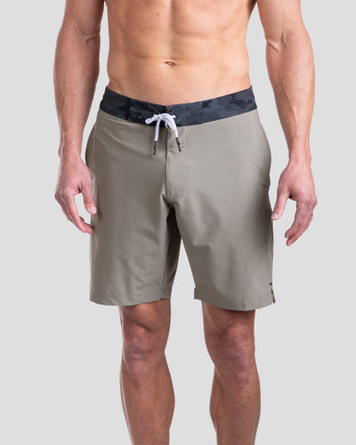 Coastal Board Shorts Olive/Black Camo