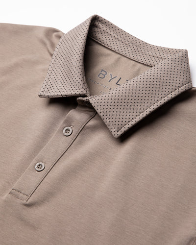 Drop-Cut: LUX Microdot Polo Olive/Black