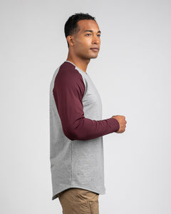 Heather Grey/Maroon