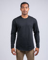 Dotted Drop-Cut Long Sleeve: LUX Black/Grey