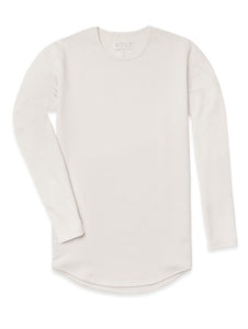 Bone - Drop-Cut Long Sleeve: LUX