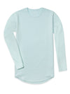 Drop-Cut Long Sleeve: LUX <!-- Size S --> Sea Breeze - Drop-Cut Long Sleeve: LUX