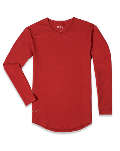 Drop-Cut Long Sleeve: LUX (FINAL SALE) Brick