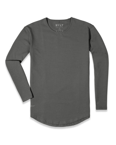 Drop-Cut Long Sleeve: LUX <!-- Size M --> Charcoal