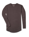 Drop-Cut Long Sleeve: LUX <!-- Size S --> Chocolate