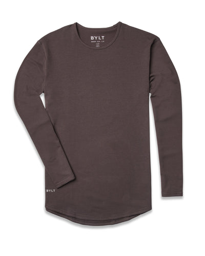 Drop-Cut Long Sleeve: LUX Chocolate