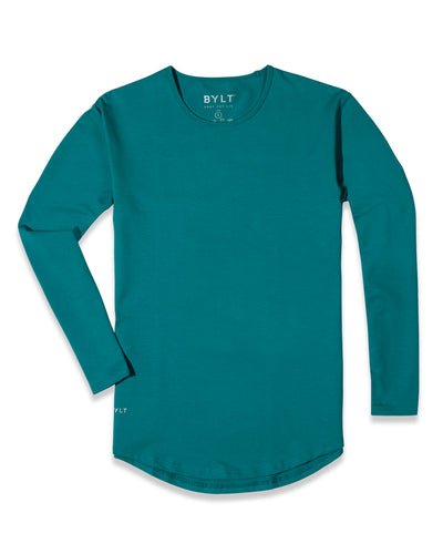 Drop-Cut Long Sleeve: LUX (FINAL SALE) Harbor Blue