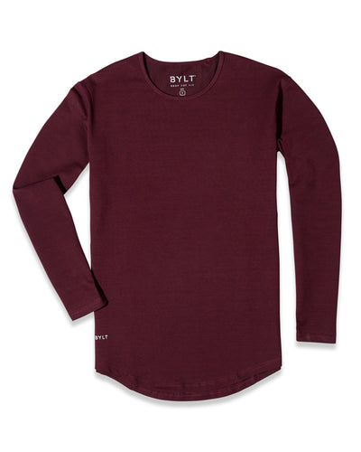 Drop-Cut Long Sleeve: LUX (A FINAL SALE) Maroon