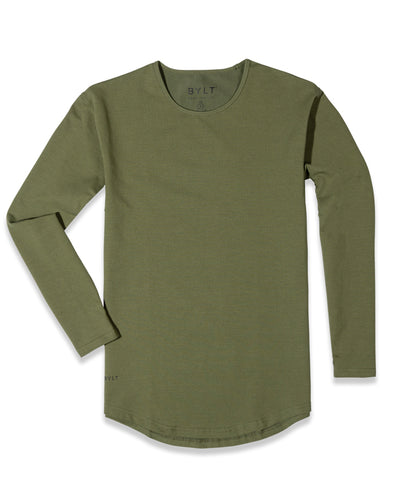 Drop-Cut Long Sleeve: LUX (FINAL SALE) Military Green