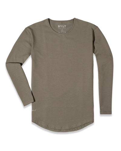 Drop-Cut Long Sleeve: LUX <!-- Size M --> Olive