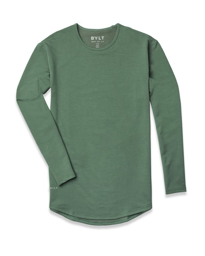 Drop-Cut Long Sleeve: LUX <!-- Size S --> Pine