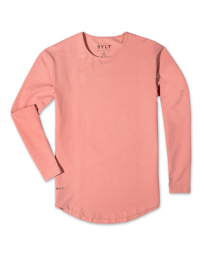 Drop-Cut Long Sleeve: LUX (FINAL SALE) Salmon