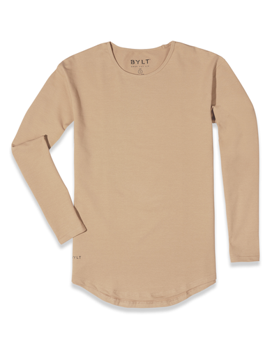 Drop-Cut Long Sleeve (A FINAL SALE) Sand