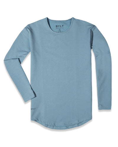 Drop-Cut Long Sleeve (A FINAL SALE) Sky Blue