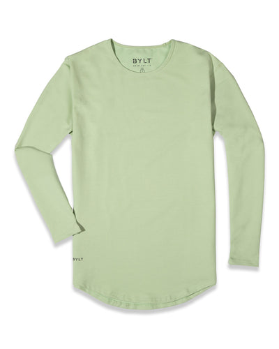 Drop-Cut Long Sleeve: LUX (FINAL SALE) Spring Green