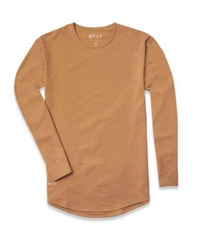Drop-Cut Long Sleeve: LUX (A FINAL SALE) Toast