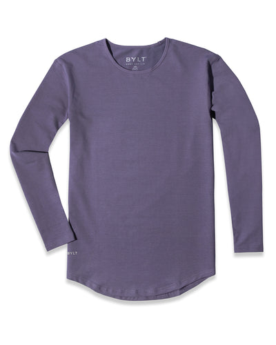 Drop-Cut Long Sleeve: LUX (A FINAL SALE) Vintage Purple