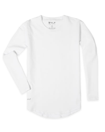 Drop-Cut Long Sleeve: LUX <!-- Size XS --> White