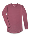 Drop-Cut Long Sleeve: LUX <!-- Size M --> Wine