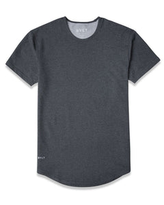 Dark Heather Grey - Drop-Cut Shirt