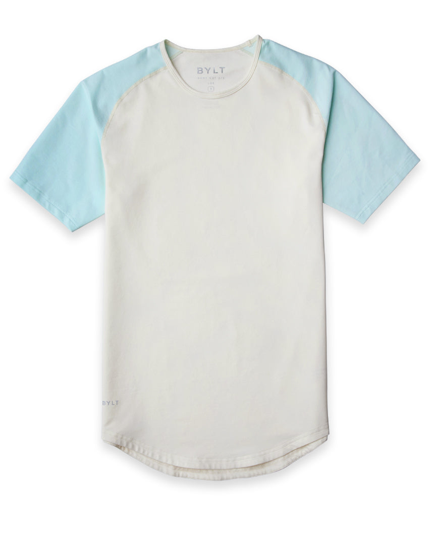 Bone/Sea Breeze - Baseball Drop-Cut Shirt