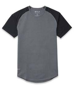 Charcoal/Black - Baseball Drop-Cut Shirt