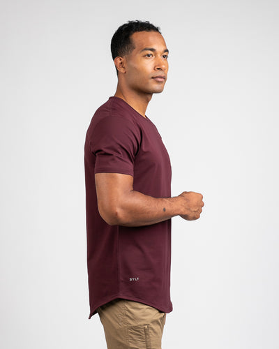 Drop-Cut: LUX Pocket Maroon/Bone - Drop-Cut LUX Pocket Shirt