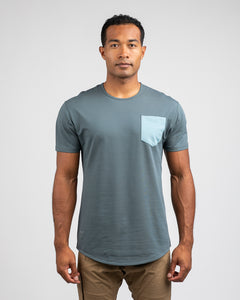 Pacific/Slate - Drop-Cut LUX Pocket Shirt