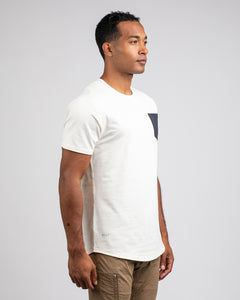 Bone/Navy - Drop-Cut LUX Pocket Shirt