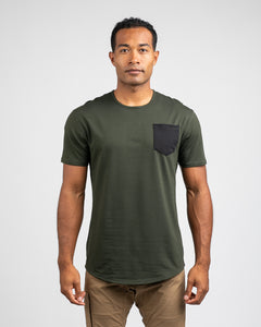 Forest/Black - Drop-Cut LUX Pocket Shirt
