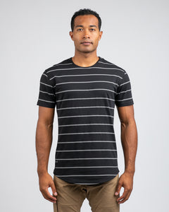Black/Grey - Striped Drop-Cut: LUX