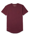 Drop-Cut Solid Pocket Shirt Maroon