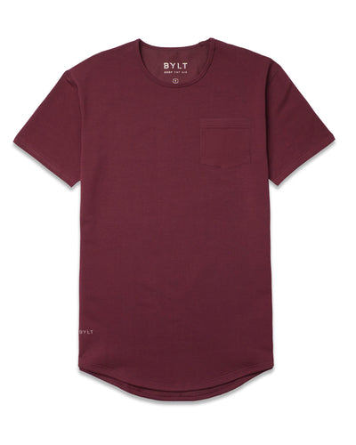 Drop-Cut: LUX Pocket <!-- Size XXL --> Maroon - Drop-Cut LUX Pocket Shirt