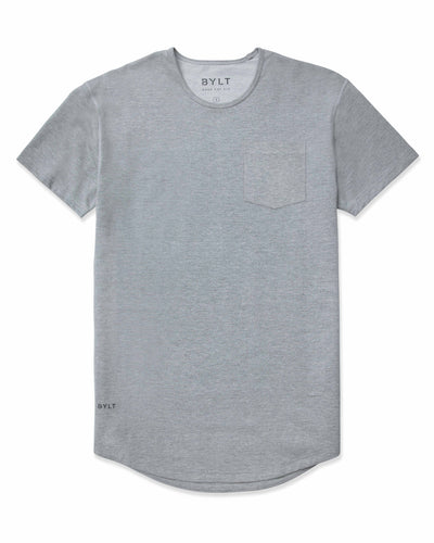 Drop-Cut: LUX Pocket <!-- Size XXL --> Grey - Drop-Cut LUX Pocket Shirt