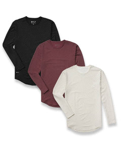 BYLT Basics - Dotted Drop-Cut Long Sleeve: LUX - Custom Pack
