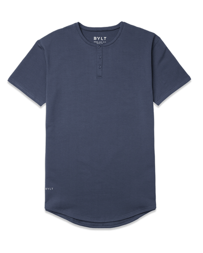 Henley Drop-Cut <!-- Size S --> Midnight