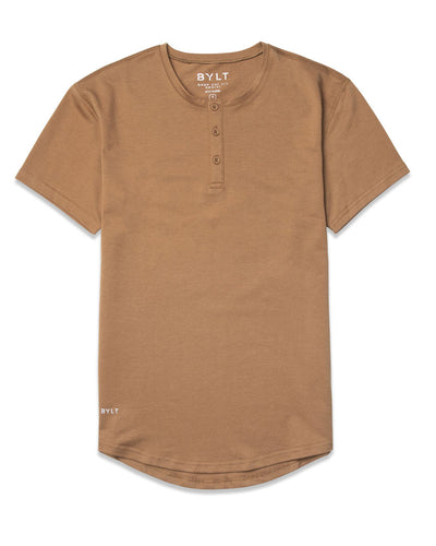 Henley Drop-Cut: LUX (FINAL SALE) Toast