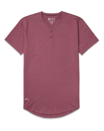 Henley Drop-Cut <!-- Size S --> Wine