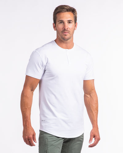 Henley Drop-Cut: LUX <!-- Size S --> White