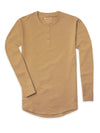 Henley Drop-Cut Long Sleeve: LUX Dune