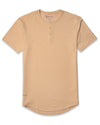 Henley Drop-Cut: LUX Almond -  Henley Drop-Cut: LUX