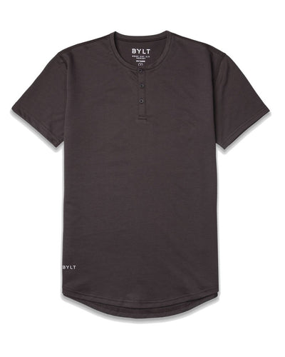 Henley Drop-Cut: LUX Chocolate - Henley Drop-Cut: LUX
