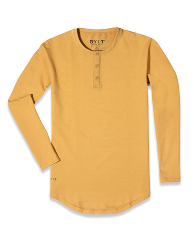 Henley Drop-Cut Long Sleeve: LUX (FINAL SALE) Mojave