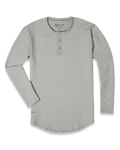 Henley Drop-Cut Long Sleeve: Everyday Fit