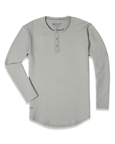 Henley Drop-Cut Long Sleeve: LUX (FINAL SALE) Storm