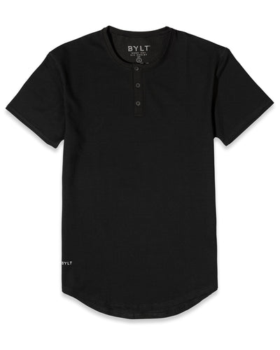Henley Drop-Cut: LUX <!-- Size S --> Black
