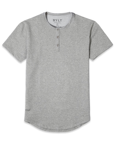 Henley Drop-Cut: LUX <!-- Size S --> Heather Grey