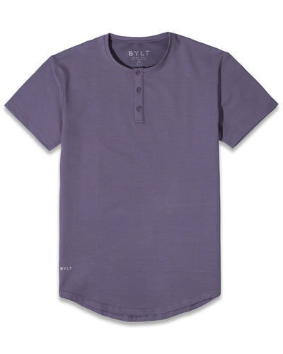 Henley Drop-Cut: LUX Vintage Purple