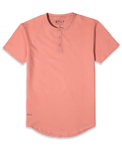 Henley Drop-Cut: LUX (FINAL SALE) Salmon
